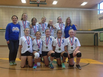 7th grade volleyballers finish undefeated