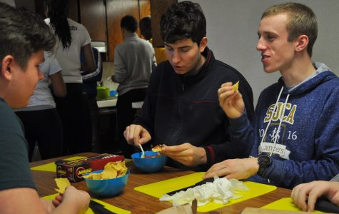 Sergio Nanu and Ben Scopp enjoy the fruits of their labors in What's Your Beef class.