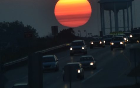 Sunrise on a Monday morning commute down Highway 50.