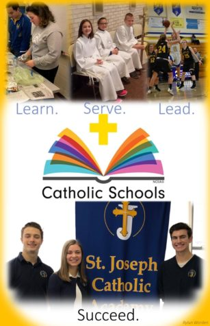 Student graphic designers compose Catholic Schools Week posters