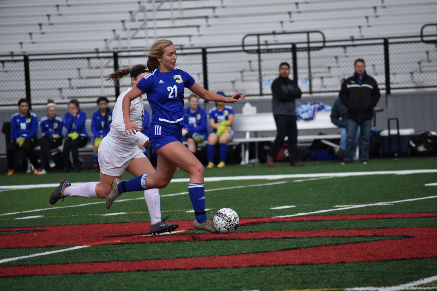 The SJCA girls soccer team is back at the head of the pack.