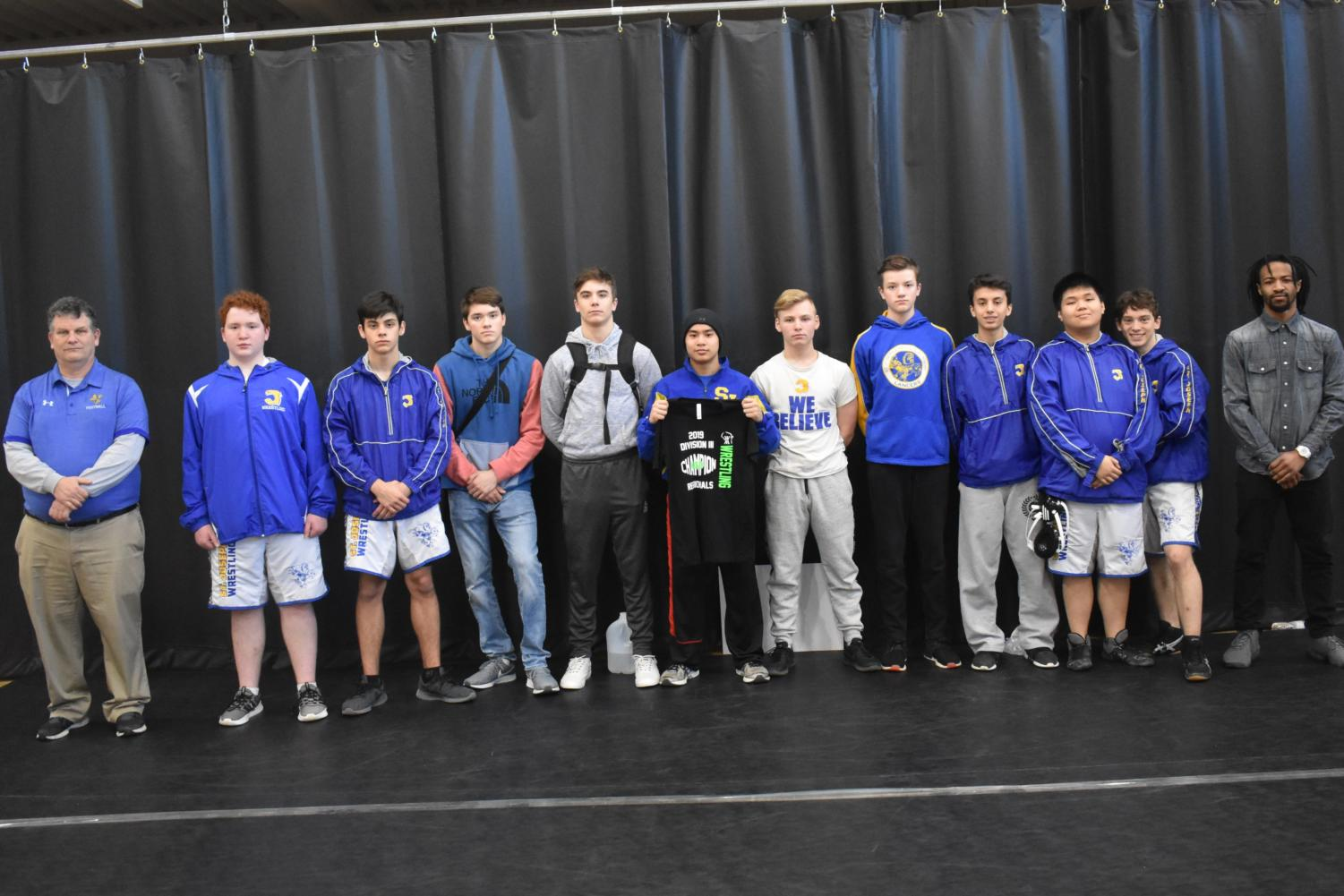 The 2019 St. Joseph Catholic Academy wrestling team fourth at regionals.