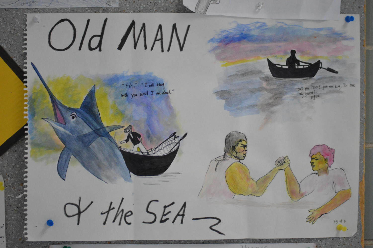 The Old Man & The Sea by Ernest Hemingway: Graphic organizer by junior Jenny Jin.